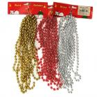 Christmas Beads Assorted Silver Red Gold