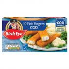 Birds Eye 10 Cod Fish Fingers PM £2.75