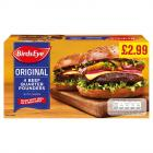 Birds Eye 4 Beef Quarter Pounders PM £2.99