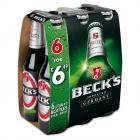 Becks German Pilsner Beer Bottles PMP 6 For £6.49
