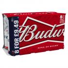 Budweiser Lager Beer Cans PMP £9.49