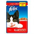 Felix Pouch Beef in Jelly 3 for £1