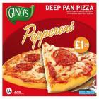 Ginos Deep Pan Pepperoni Pizza PM £1.39