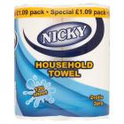 Nicky Household Kitchen Towel PM £1.09