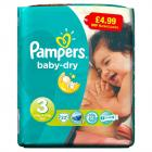 Pampers Baby Dry Size 3 Midi Pack PM £4.99