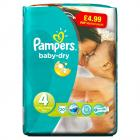 Pampers Baby Dry Size 4 Maxi Pack PM £4.99
