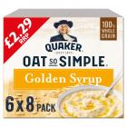 Quaker Oats So Simple Golden Syrup 8 Sachets PM £2.29