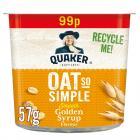 Quaker Oats So Simple Pot Golden Syrup PM £99p