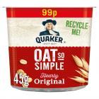 Quaker Oats So Simple Pot Original PM £99p