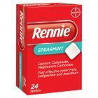 Rennie Spearmint 24 Tablets