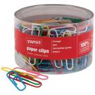 Staples Paperclips Vinyl Coloured