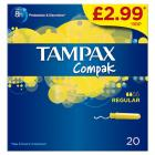 Tampax Compak Regular PM £2.99
