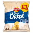 Walkers Baked Crisps Cheese & Onion PM £1