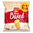 Walkers Baked Crisps Sea Salt PM £1