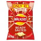 Walkers Ready Salted Crisps £1 PMP