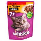 Whiskas Pouch 7+ Chicken PM 3 for £1.19