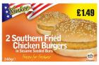 Yankee 2 Southern Fried Chicken Burgers PM £1.79