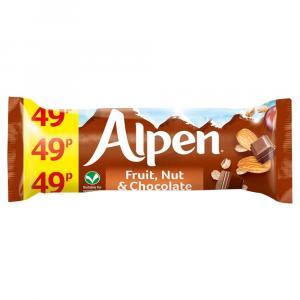 Alpen Fruit & Nut Milk Chocolate Bars PM 49p