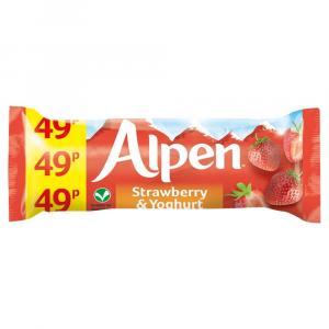 Alpen Strawberry & Yogurt Bars PM 49p