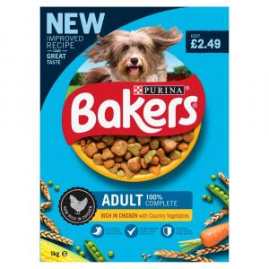 Bakers Adult Dog Food Chicken & Vegetables PM £2.49