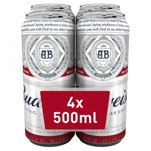 Budweiser Lager Beer Cans