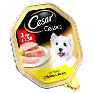 Cesar Tray Chicken & Turkey in Loaf 2 For £1.50