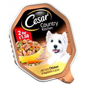 Cesar Tray Chicken & Vegetables in Gravy 2 For £1.50
