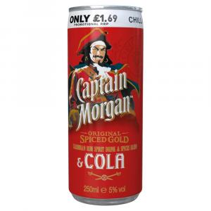 Captain Morgan Spiced Rum With Cola Can PM £1.69