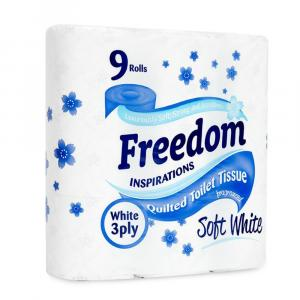 Freedom White Toilet Rolls 3ply