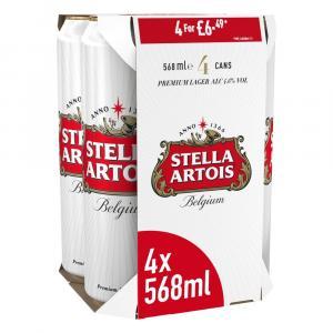 Stella Artois Premium Lager Beer Cans PMP £6.49