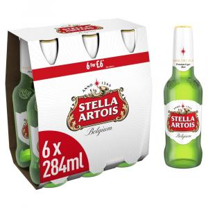 Stella Artois Premium Lager Beer Bottle PMP 6 For £6