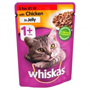 Whiskas Pouch 1+ Chicken PM 3 for £1.19