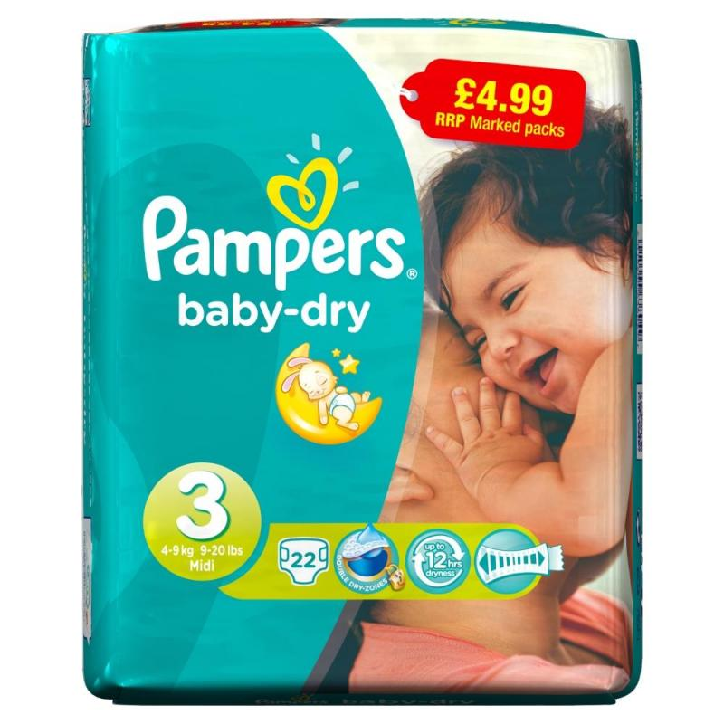 Pampers Baby Dry Size 3 Midi Pack Pm 194 163 4 99